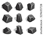 set set of coal ore or boulders....