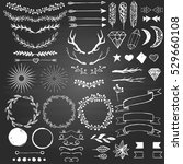 hand drawn decoration elements... | Shutterstock .eps vector #529660108
