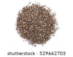 chia seeds close up on a white... | Shutterstock . vector #529662703