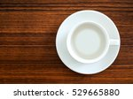 white cup on wooden board with... | Shutterstock . vector #529665880