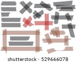 adhesive tape pieces isolated... | Shutterstock .eps vector #529666078