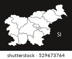 slovenia regions map black white