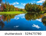 golf club on the road to... | Shutterstock . vector #529675780