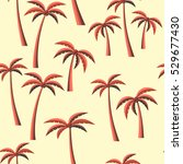 orange palm trees with coconut... | Shutterstock .eps vector #529677430