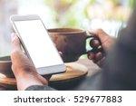 mockup image of left hand... | Shutterstock . vector #529677883