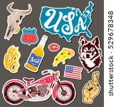 motorcycle set of isolated... | Shutterstock .eps vector #529678348