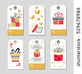 set of christmas gift tags with ... | Shutterstock .eps vector #529678984