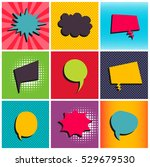 comic set background pop art... | Shutterstock .eps vector #529679530
