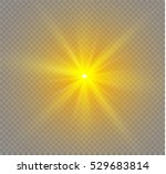glow light effect. star burst... | Shutterstock .eps vector #529683814