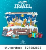 winter travel. travel to world. ... | Shutterstock .eps vector #529683838