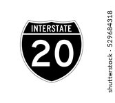 interstate highway 20 road sign | Shutterstock .eps vector #529684318