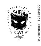 hero cat masked illustration... | Shutterstock .eps vector #529684870