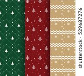 christmas pattern collection... | Shutterstock .eps vector #529687276