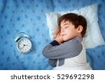 six years old child sleeping in ... | Shutterstock . vector #529692298
