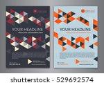 set a5  a4 business brochure...   Shutterstock .eps vector #529692574