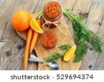 jam of young carrots with orange | Shutterstock . vector #529694374