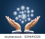 question in business hand | Shutterstock . vector #529695220
