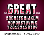 vector of big retro 3d alphabet | Shutterstock .eps vector #529696540