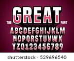 vector of big retro 3d alphabet | Shutterstock .eps vector #529696540