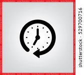 clock vector illustration eps10. | Shutterstock .eps vector #529700716