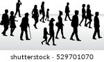 people walking  black... | Shutterstock .eps vector #529701070
