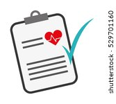 medical report with cardio...   Shutterstock .eps vector #529701160