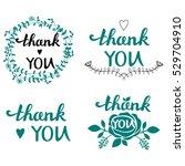 thank you handwritten vector... | Shutterstock .eps vector #529704910