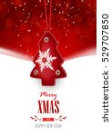 christmas greeting card with... | Shutterstock .eps vector #529707850