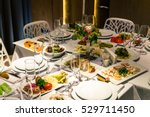 table setup in the evening... | Shutterstock . vector #529711450