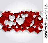 valentine's day heart symbol.... | Shutterstock .eps vector #529714414