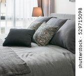 stylish bedroom interior design ... | Shutterstock . vector #529715098