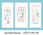 three kids layout with labels... | Shutterstock .eps vector #529719178