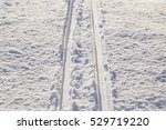 skis traces in the snow in a... | Shutterstock . vector #529719220