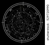 astrological celestial map of... | Shutterstock .eps vector #529720990