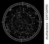 astrological celestial map of... | Shutterstock .eps vector #529720990