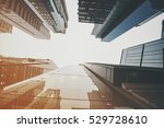 modern skyscrapers in a... | Shutterstock . vector #529728610