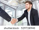 two smiling successful young... | Shutterstock . vector #529728940