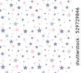 Stock vector seamless stars pattern 529729846