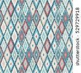 ethnic rhombus tribal seamless... | Shutterstock . vector #529729918