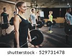 fit young woman lifting... | Shutterstock . vector #529731478
