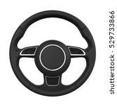 steering wheel isolated. 3d... | Shutterstock . vector #529733866