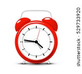 red alarm clock. vector time... | Shutterstock .eps vector #529733920