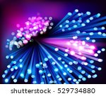 digital data transmission.... | Shutterstock .eps vector #529734880