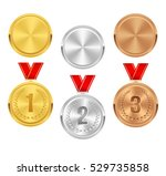 set of gold  silver and bronze... | Shutterstock .eps vector #529735858