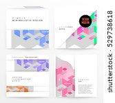 geometric background template... | Shutterstock .eps vector #529738618