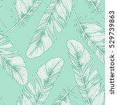 seamless mint green pattern... | Shutterstock .eps vector #529739863