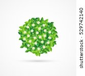 circle of leaves and flowers.... | Shutterstock .eps vector #529742140