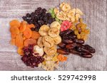 healthy dried food nutrition on ... | Shutterstock . vector #529742998
