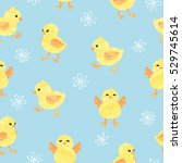 seamless blue pattern with cute ... | Shutterstock .eps vector #529745614