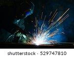 welders working at the factory... | Shutterstock . vector #529747810
